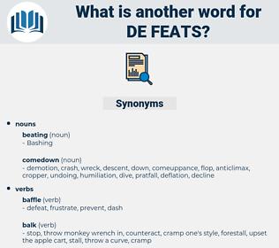 de feats, synonym de feats, another word for de feats, words like de feats, thesaurus de feats
