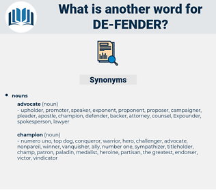 de fender, synonym de fender, another word for de fender, words like de fender, thesaurus de fender
