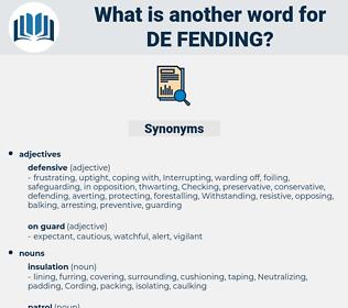 de-fending, synonym de-fending, another word for de-fending, words like de-fending, thesaurus de-fending