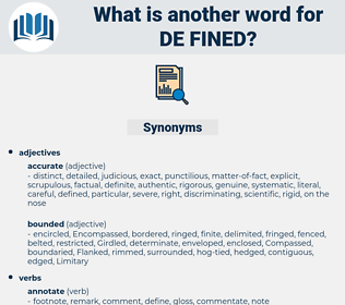 de-fined, synonym de-fined, another word for de-fined, words like de-fined, thesaurus de-fined