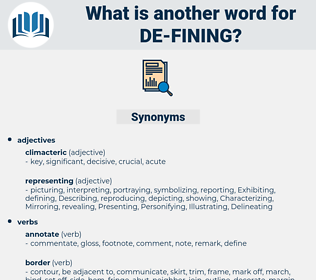 de fining, synonym de fining, another word for de fining, words like de fining, thesaurus de fining