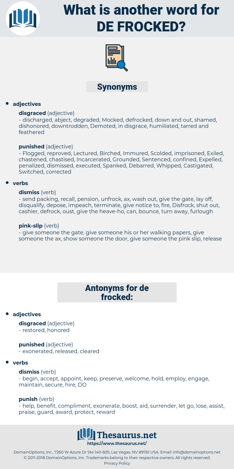 de frocked, synonym de frocked, another word for de frocked, words like de frocked, thesaurus de frocked