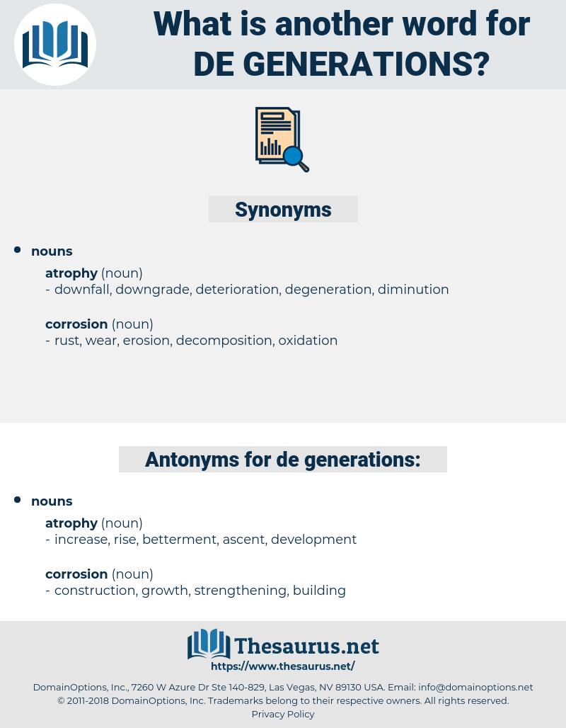 de-generations, synonym de-generations, another word for de-generations, words like de-generations, thesaurus de-generations