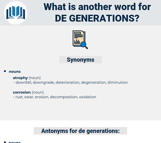 de generations, synonym de generations, another word for de generations, words like de generations, thesaurus de generations