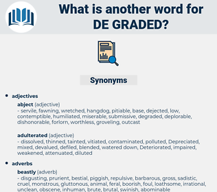 de graded, synonym de graded, another word for de graded, words like de graded, thesaurus de graded