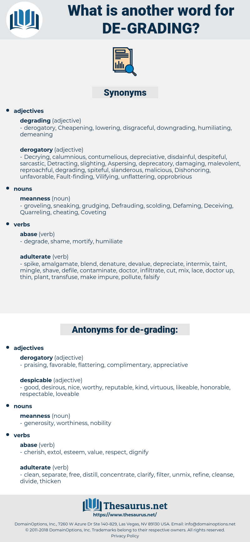 de grading, synonym de grading, another word for de grading, words like de grading, thesaurus de grading
