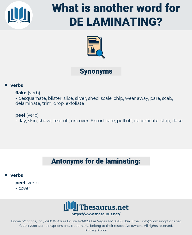de-laminating, synonym de-laminating, another word for de-laminating, words like de-laminating, thesaurus de-laminating