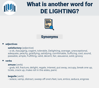 de lighting, synonym de lighting, another word for de lighting, words like de lighting, thesaurus de lighting