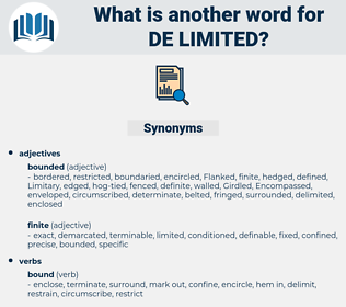 de-limited, synonym de-limited, another word for de-limited, words like de-limited, thesaurus de-limited