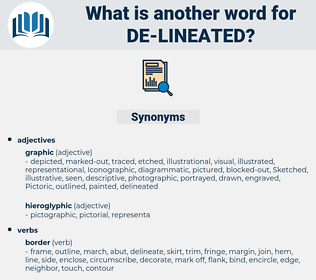 de lineated, synonym de lineated, another word for de lineated, words like de lineated, thesaurus de lineated