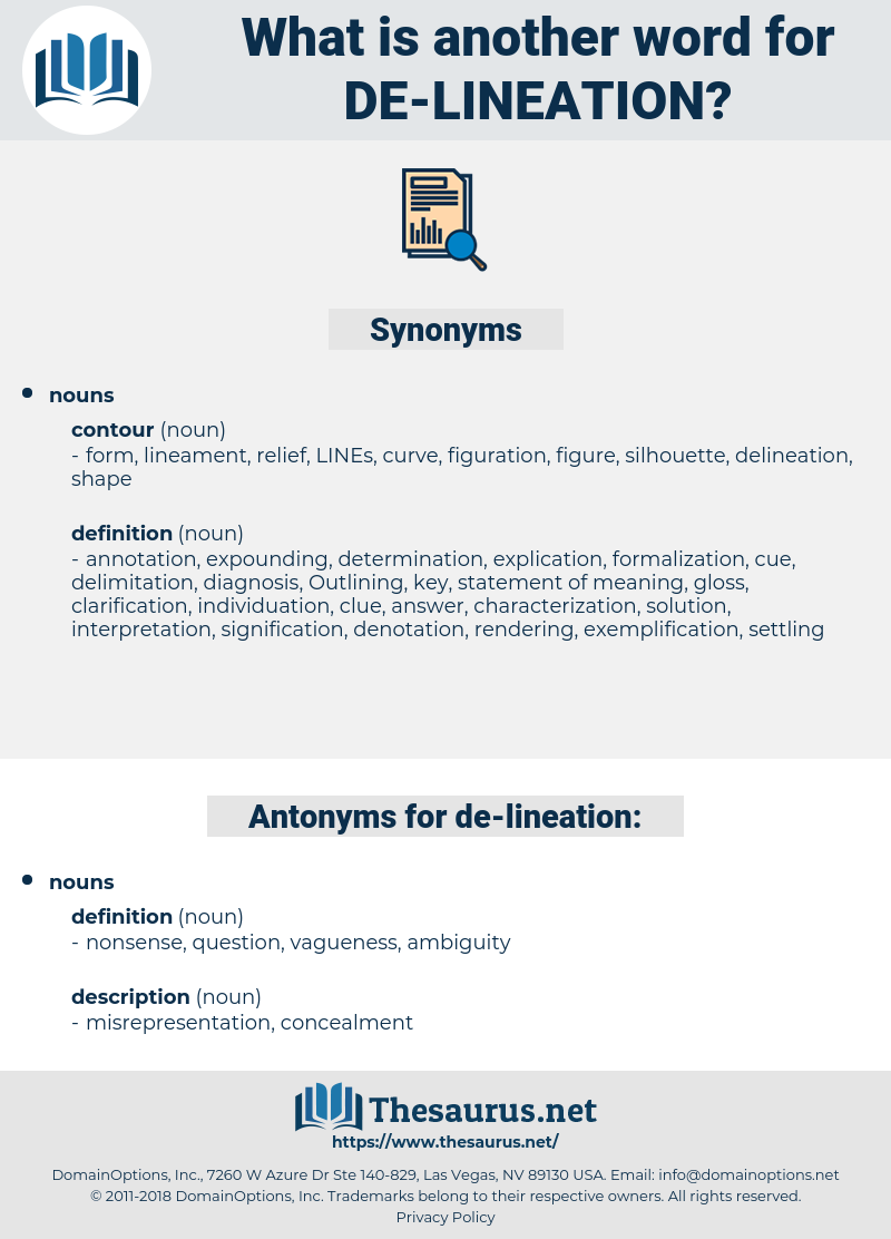 de lineation, synonym de lineation, another word for de lineation, words like de lineation, thesaurus de lineation