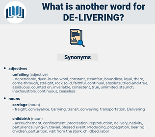 de livering, synonym de livering, another word for de livering, words like de livering, thesaurus de livering