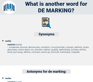 de marking, synonym de marking, another word for de marking, words like de marking, thesaurus de marking