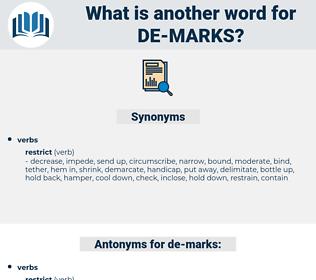 de-marks, synonym de-marks, another word for de-marks, words like de-marks, thesaurus de-marks
