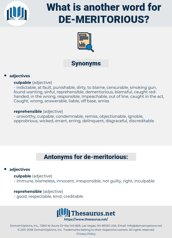 de meritorious, synonym de meritorious, another word for de meritorious, words like de meritorious, thesaurus de meritorious