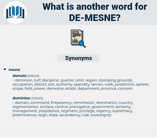 de mesne, synonym de mesne, another word for de mesne, words like de mesne, thesaurus de mesne