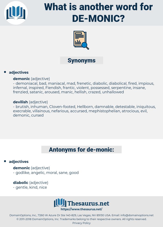 de monic, synonym de monic, another word for de monic, words like de monic, thesaurus de monic