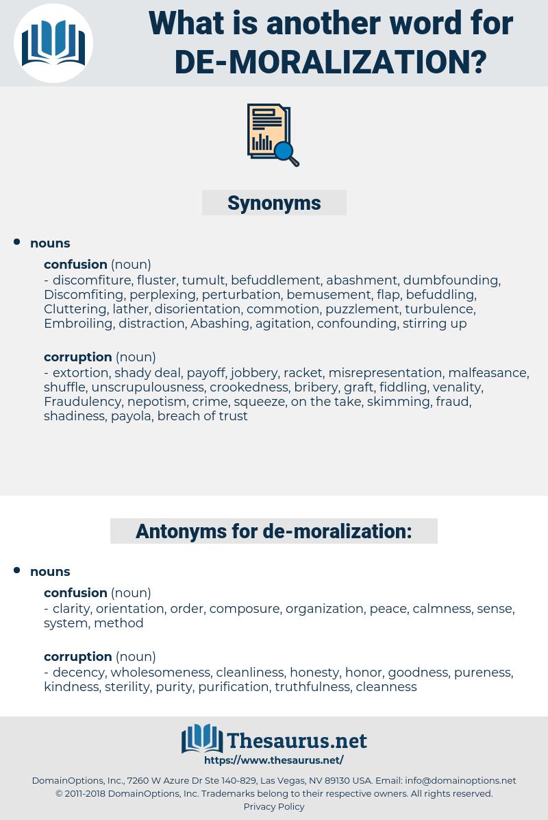 de-moralization, synonym de-moralization, another word for de-moralization, words like de-moralization, thesaurus de-moralization