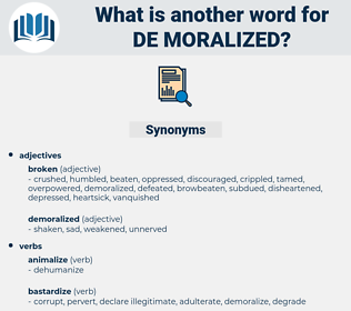 de-moralized, synonym de-moralized, another word for de-moralized, words like de-moralized, thesaurus de-moralized