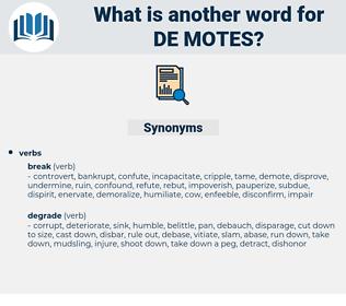 de motes, synonym de motes, another word for de motes, words like de motes, thesaurus de motes
