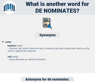 de nominates, synonym de nominates, another word for de nominates, words like de nominates, thesaurus de nominates