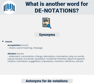 de-notations, synonym de-notations, another word for de-notations, words like de-notations, thesaurus de-notations