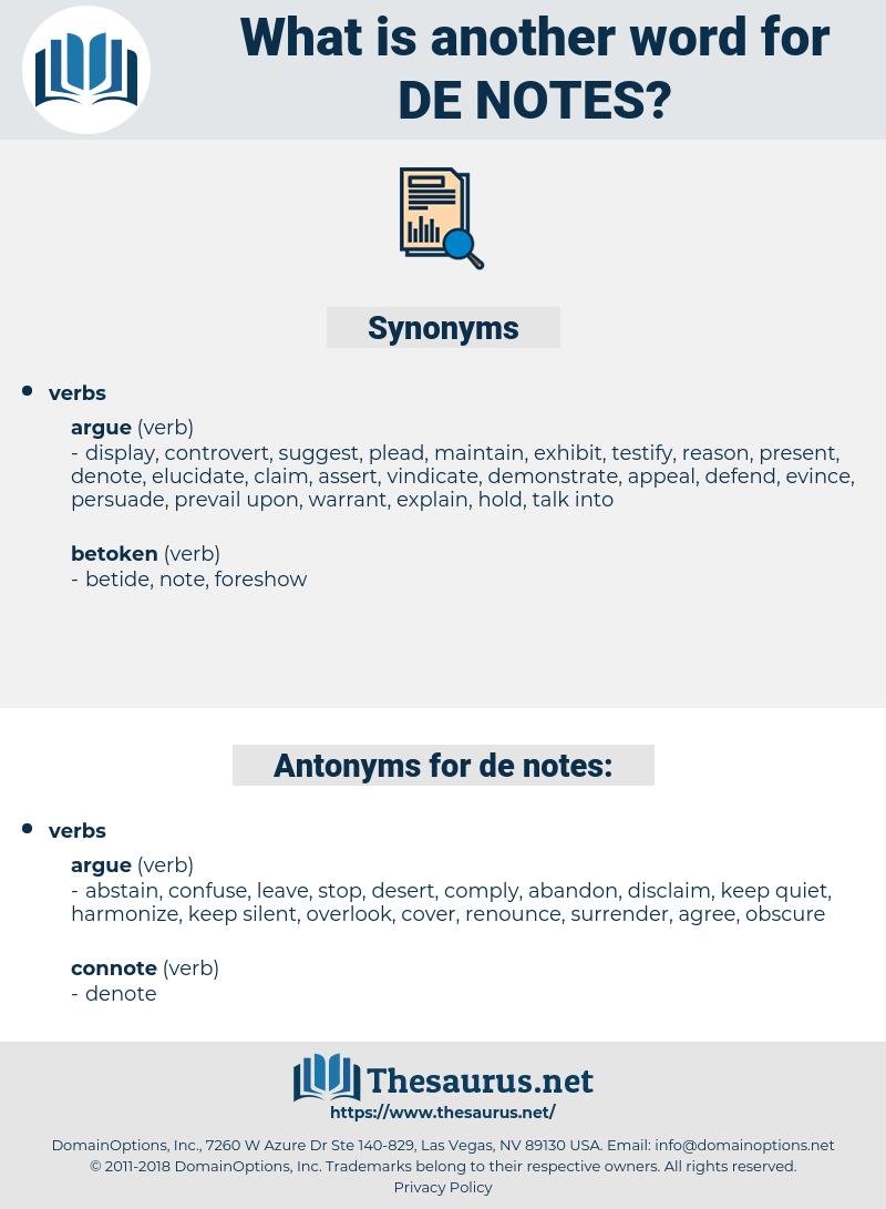de-notes, synonym de-notes, another word for de-notes, words like de-notes, thesaurus de-notes