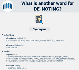 de-noting, synonym de-noting, another word for de-noting, words like de-noting, thesaurus de-noting