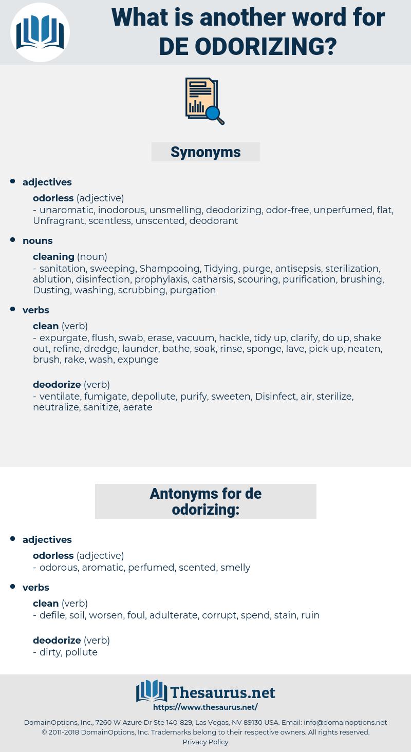 de odorizing, synonym de odorizing, another word for de odorizing, words like de odorizing, thesaurus de odorizing