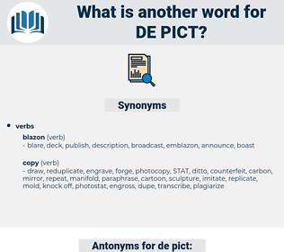 de pict, synonym de pict, another word for de pict, words like de pict, thesaurus de pict