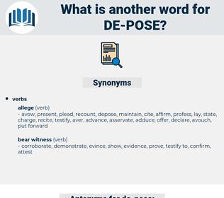 de pose, synonym de pose, another word for de pose, words like de pose, thesaurus de pose