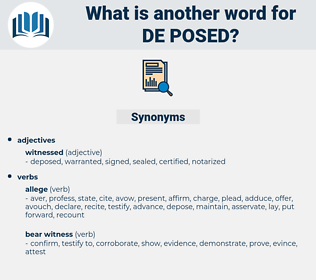 de-posed, synonym de-posed, another word for de-posed, words like de-posed, thesaurus de-posed