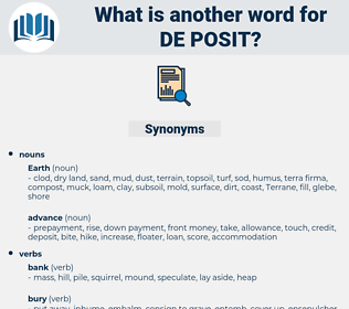 de posit, synonym de posit, another word for de posit, words like de posit, thesaurus de posit