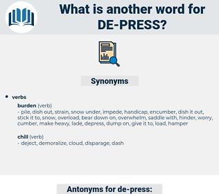 de-press, synonym de-press, another word for de-press, words like de-press, thesaurus de-press