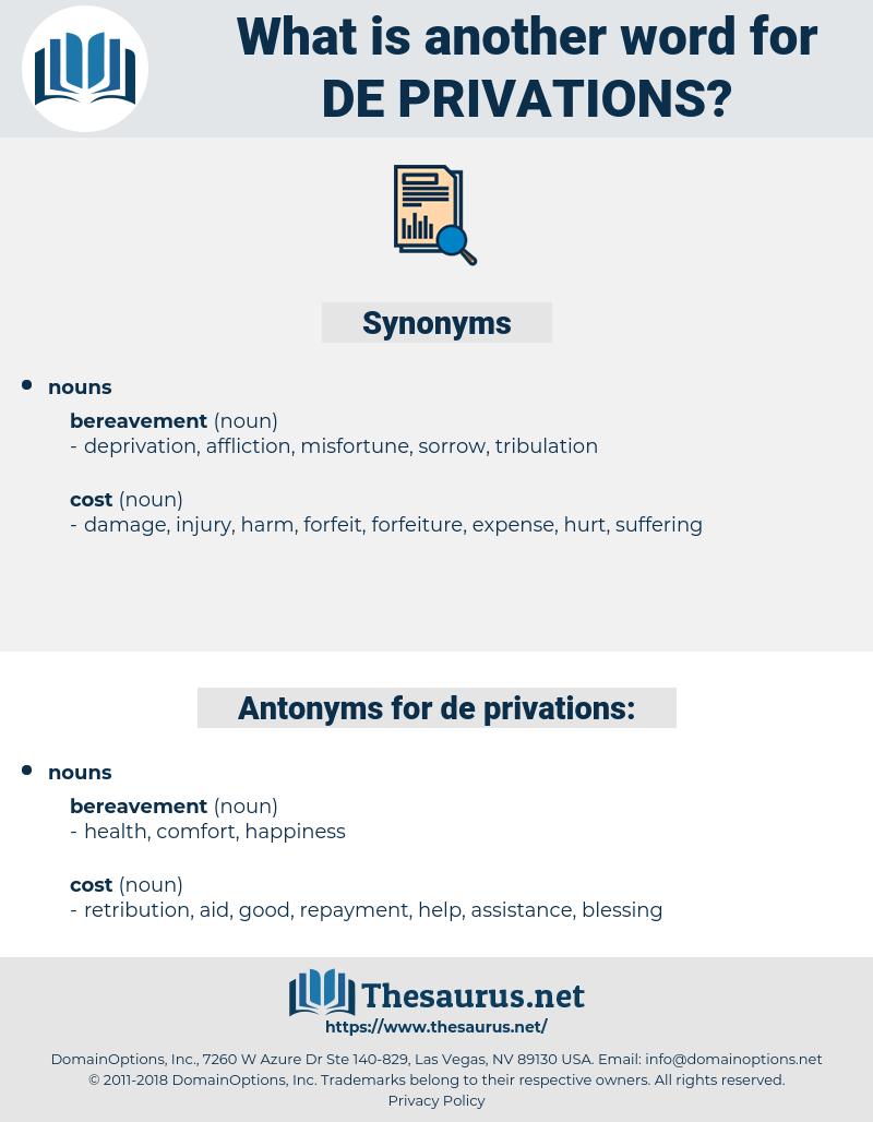 de-privations, synonym de-privations, another word for de-privations, words like de-privations, thesaurus de-privations