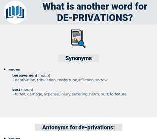 de privations, synonym de privations, another word for de privations, words like de privations, thesaurus de privations