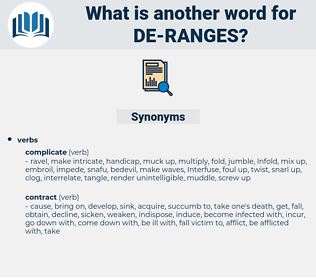 de ranges, synonym de ranges, another word for de ranges, words like de ranges, thesaurus de ranges