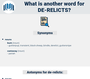 de-relicts, synonym de-relicts, another word for de-relicts, words like de-relicts, thesaurus de-relicts