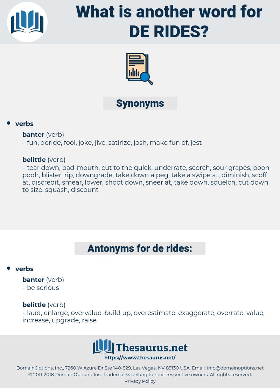 de rides, synonym de rides, another word for de rides, words like de rides, thesaurus de rides
