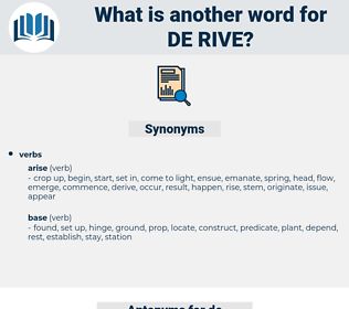 de-rive, synonym de-rive, another word for de-rive, words like de-rive, thesaurus de-rive