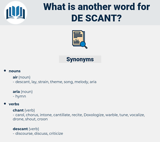 de scant, synonym de scant, another word for de scant, words like de scant, thesaurus de scant
