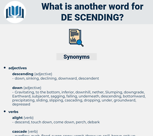 de-scending, synonym de-scending, another word for de-scending, words like de-scending, thesaurus de-scending