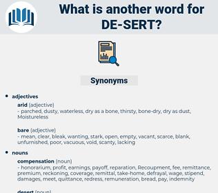 de sert, synonym de sert, another word for de sert, words like de sert, thesaurus de sert