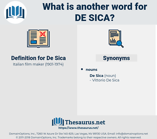 De Sica, synonym De Sica, another word for De Sica, words like De Sica, thesaurus De Sica