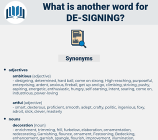 de signing, synonym de signing, another word for de signing, words like de signing, thesaurus de signing