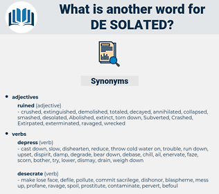 de solated, synonym de solated, another word for de solated, words like de solated, thesaurus de solated