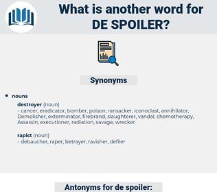 de-spoiler, synonym de-spoiler, another word for de-spoiler, words like de-spoiler, thesaurus de-spoiler