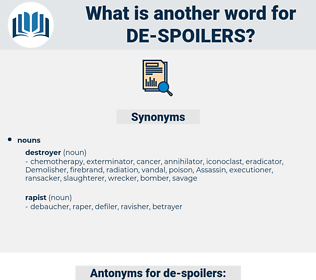 de spoilers, synonym de spoilers, another word for de spoilers, words like de spoilers, thesaurus de spoilers