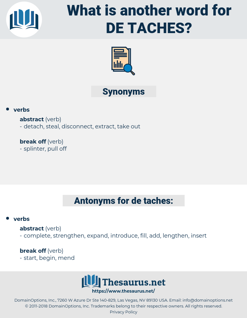 de-taches, synonym de-taches, another word for de-taches, words like de-taches, thesaurus de-taches