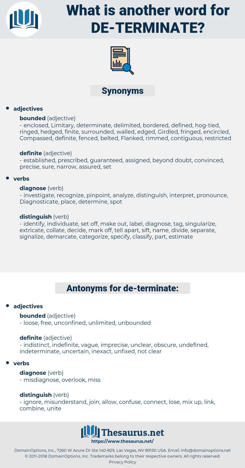 de terminate, synonym de terminate, another word for de terminate, words like de terminate, thesaurus de terminate